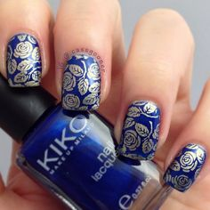 This may be our favorite nail stamping design ever - from the artistic nails of @Cassie Ranson
