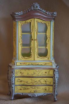 Dollhouse Miniature Furniture Hutch by LaBelleEpoqueBoudoir, $125.00