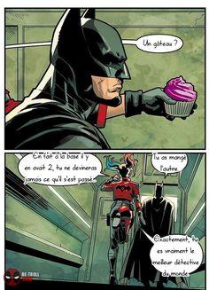 Harley Quinn and Batman Marvel Dc Comics, Batman Y Superman, Funny Batman, Batman Humor, Superman Cape, Batman Stuff, Batman Arkham, Batman Robin, Film Manga