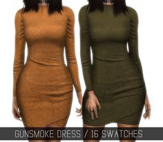 "GUNSMOKE DRESS (UPDATED) ""Suedette skintight asymmetric dress worn by Kylie Jenner [x]"" This is an update of the old package file! So you might need to replace the old one with this one, if you have..."