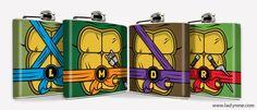 TMNT Teenage Mutant Ninja Turtles Hip Flask Hip Flask 6oz flask Mens Flask Stainless Steel Drinking Comic Cartoon Accessories Groomsmen Gift