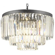 @Overstock - Odeon Crystal Glass Fringe 3-tier Chandelier - Stunningly beautiful, this fringe-styled, three-tier chandelier will add a touch of class and sophistication to any space. Ideal for dining rooms 315 and entryways, this gorgeous light fixture will illuminate your rooms with the glow of nine lights.  http://www.overstock.com/Home-Garden/Odeon-Crystal-Glass-Fringe-3-tier-Chandelier/7535911/product.html?CID=214117 $315.99