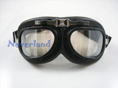Neverland Vintage Motorcycle Bike Bicycle Glasses Goggles Scooter Aviator Cruiser Helmet Pilot