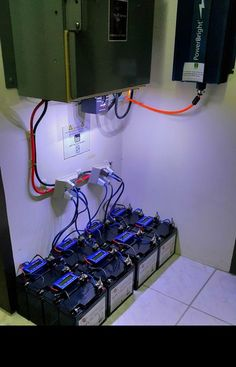 Picture of Lithium Iron Phosphate (LifePO4) solar storage battery bank