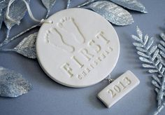 Baby's First Christmas Ornament Gift Boxed by Susabellas on Etsy