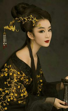 Oriental art/Ilustrations... Beautiful Asian Women, Beautiful People, Asian Woman, Asian Girl, Art Partner, Fashion Photography Inspiration, Halloween Disfraces, Black And White Portraits, Asian Style