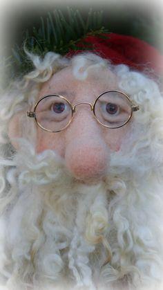 needle/ wet felted Santa Claus