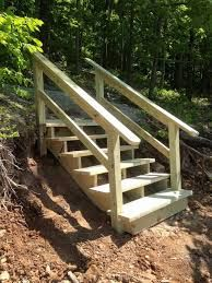 Risultati immagini per how to build outdoor stairs to a boat dock