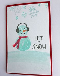 """Want to build a snowman with Impress' new  build a snowman"""" clear stamp set?"""