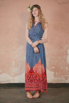 Rising Paisley Maxi Dress - saw this in the store today. Wanted to buys it. Maybe with tax return?