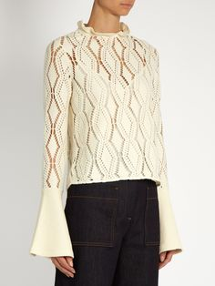 Eyelet-knit long-sleeved top | See By Chloé | MATCHESFASHION.COM UK