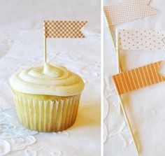 printable cupcake topper template...though this might be easier with strips of scrapbook paper.