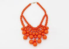 Coral bauble necklace. Oliphant, New York $125 USD
