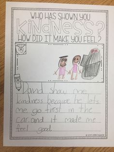 Who has shown you kindness? How did it make you feel? Counseling Activities, Team Building Activities, Therapy Activities, Infant Activities, Therapy Ideas, Art Therapy Directives, Gratitude Journal Prompts, Kindness Challenge, Core Curriculum