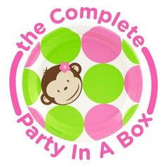 Pink Mod Monkey 1st Birthday Party in a Box