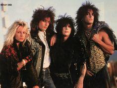 Motley Crue:  Vince Neil, Tommy Lee, Mick Mars, and Nikki Sixx