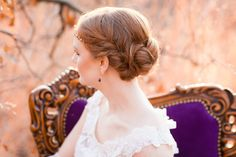 #hairstyles  Photography: Picturesque Photos By Amanda - picturesquephotosbyamanda.com  Read More: http://www.stylemepretty.com/little-black-book-blog/2014/02/28/purple-gold-wedding-ideas/