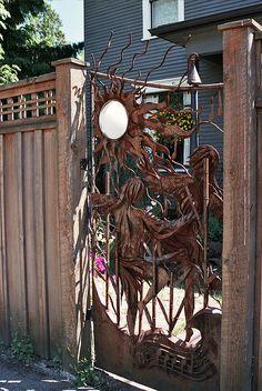 unusual building gate, capitol hill   Seattle