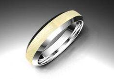 Alianza de oro blanco y amarillo de 18K modelo Letizia - Alianzas de oro - Clemente Navarro by LK #bodas #alianzas #novia cnavarro.com