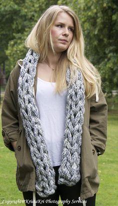 Emily Chunky Hand Knitted Scarf by HandKnittingLana on Etsy, £59.00