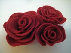 How to make Felt Roses