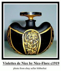 Rare French Art Deco Art Nouveau Perfume Bottle Depinoix for Nice Flore 1919 Perfume Atomizer, Antique Perfume Bottles, Vintage Bottles, Art Nouveau, Parfum Mademoiselle, Perfumes Vintage, French Art Deco, Beautiful Perfume, Bottle Vase