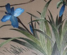 Cranes hand embroidery art painting