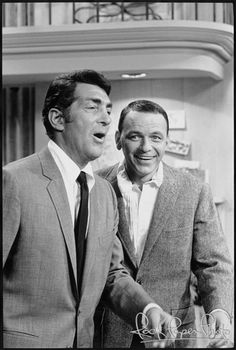 Dean Martin and Frank Sinatra by Martin Mills #deanmills #franksinatra www.RockPaperPhoto.com