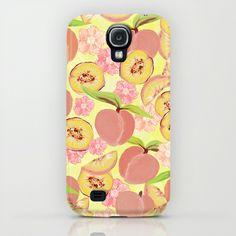 Peaches Samsung Galaxy S4 Case by Lisa Argyropoulos