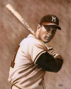 Eddie Mathews: The only Braves player in franchise history to have played in Boston, Milwaukee, and Atlanta. Braves Baseball, Baseball Boys, Baseball Games, Famous Baseball Players, World Baseball, Baseball Classic, Tony Romo, Baseball Equipment, National League