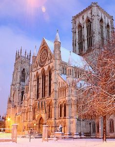 York Minster in winter, England