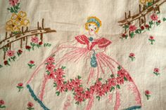 Southern Belle Runner Hand Embroidered by RosesBelles on Etsy, $21.00