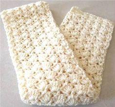 Snapdragon Stitch Scarf ~ Barb's Free Crochet Patterns