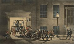Currier & Ives Fire Fighting Prints - Night Alarm