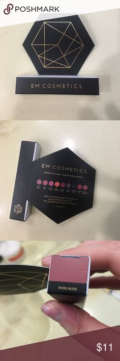 Lipstick New never used lipstick in the color rose nude. From EM cosmetics this lip color is like a cloud going on super soft with long lasting color that is bold all day long. Only a little goes a long way. It's a light air whipped formula EM COSMETICS Makeup Lipstick