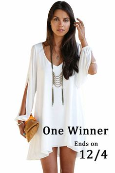 Oasap New Event —— Just Follow me and Repin this picture, then you will have chance to get this dress FOR FREE!