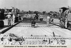 First Interstate construction in Missouri 1950s