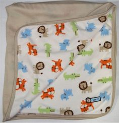 Carters Jungle Animal Tan Roar Baby Boy Security Blanket Lion Tiger Alligator #Carters