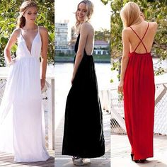 Sexy Plunge V-neck Prom Dress, Bohemian White Prom Dress with Crisscross Back, Flowy Long Prom Dress