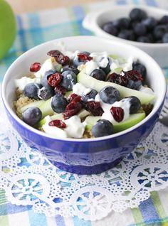 #Quinoa Salad with Blueberries