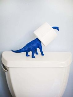 It's so unexpected, but so obvious — which is why this toilet paper holder made out of a dinosaur toy is at the top of our DIY list. A coat of blue paint takes it from realistic to modern and fun in a snap. See more at The Chic Site »