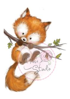 ❤️Wild Rose Studio ~ Fox on Branch