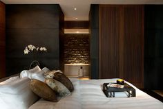 European Hotel Design Awards 2014 The Chedi Andermatt Winner of Bedrooms & Bathrooms with KALDEWEI free standing bath.