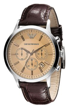 Emporio Armani Stainless Steel Watch available at Nordstrom