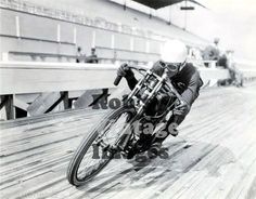 Motorcycle Board Track Racing Daredevil 4 1915 20 Old Photo Vintage 8 x 10 | eBay