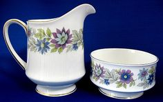 France Sugar Bowl and Creamer | for your tea table cream and sugars paragon cherwell sugar and cream ...