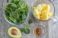 This pineapple avocado green smoothie is delicious, nutritious, energy boosting and good till the last drop. @natashaskitchen