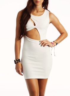 Cut-Out Body Con Dress // It's an interesting one