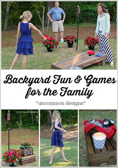Backyard Fun and Games for the Family  Get outdoors and have some fun! www.uncommondesignsonline.com #backyardfun  #outdoorentertaining #summer