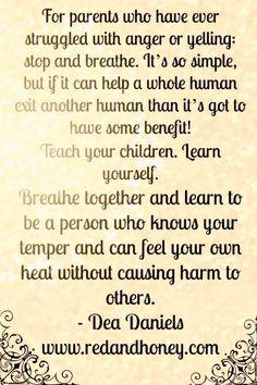 Lovely website on modifying your own behavior  in order to change your children's behavior.